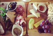 FROMAGE & CHARCUTERIE / Choose your own cheese and meat board from our hand-selected fine cheeses and meats & Pate's. Dressed with fresh seasonal fruits, dried fruits, jams and honeys, cornichons, olive mix, stone mustard and served with our fresh baked breads and butter crock