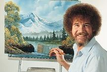 "Bob Ross' Happy Little Accidents / ""We don't make mistakes, just happy little accidents. From all of us here, I'd like to wish you happy painting... and God bless, my friend."" ~ Bob Ross #HappyTrees"
