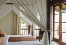 Bedroom Decor Ideas / Mosquito Nets, Bed Canopies and Bed Curtains used in a various number of innovative ways to expand the current uses and limitations of basic design.