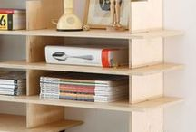 OceanBeach - Plywood Shelving / Plywood shelves can be backed against entire plywood wall surfaces to make them feel integrated into architecture.