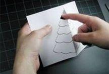 Kerst projecten om te proberen / kerstkaarten maken met mama