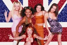 "The ""SPICE"" is Right / The Spice Girls were the quintessential girl group of the '90s. British pop stars Melanie Brown (Scary Spice), Melanie Chisholm (Sporty Spice), Emma Bunton (Baby Spice), Geri Halliwell (Ginger Spice), and Victoria Adams (Posh Spice) weren't even close to being my favourite group (hardly listened to them), but wow, they always looked amazing! They produced some of the greatest guilty pleasure songs of all time. Geri was always my favourite, as will be evidenced by my Ginger-heavy pins! #GirlPower"