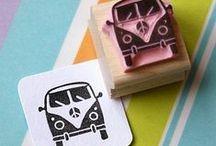 STAMPS / Stempels, Stamps, handmade