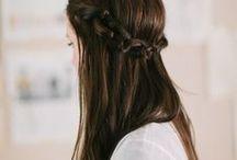 hair {half up}