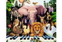 Carnival of the Animals / All about animals including resources for teaching the Camille Saint-Saens musical suite, animal costumes and animal hats.