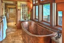 Bathroom Ideas / A Collection of Bathroom Ideas found across the Internet that inspires us