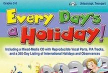 Holidays Throughout The Year / A chronological look at various holidays and resources!