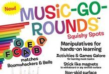 Music-Go-Rounds / Music-Go-Rounds Squishy Spots Manipulatives for learning hands-on learning.  http://www.musicmotion.com/pages/music-go-rounds.asp
