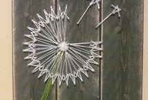 Lankataulu - string art