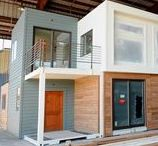 Container Houses / Can you believe you can create a house using recycled shipping containers?
