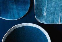 indigo blue ideas and accessories lookbook / Blue things impressions #blue #leather #denim #fabric #pattern #felt #Filz #bags #ideas