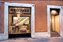RE(f)USE  / The first  specialty store of fashion and design made exclusively with recycled or reused materials.  Via Fontanella Borghese, 40 - 00186 Roma mail: refusebycc@gmail.com