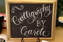 My Chalkboards & Signs / These are super fun and create such an impact!