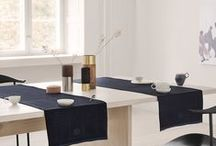 TABLERUNNERS / Complete your table setting with a table runner from GEORG JENSEN DAMASK. Use it directly on your dining table or on top of a matching tablecloth. The runner can be used lengthwise as a decoration or crosswise for settings on opposite sides of the table.