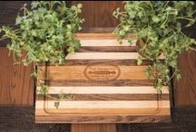 Handcrafted Cutting Boards / Durable mixed hardwoods formed into beautiful cutting boards. Can be personalized.