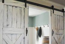 Barn doors decor / Decoración usando puertas granero. Tendencias