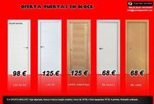 OFERTA DE PUERTAS EN BLOCK / Nuestras ofertas más suculentas: consigue calidad al mejor precio.