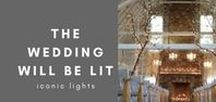 The Wedding will be LIT / It's the little touches that make a boutique wedding perfect. Get lost in our wedding lighting inspiration. So dreamy