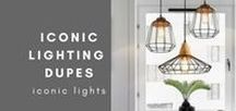 Iconic Lighting Dupes / Iconic Lights Dupes from across Pinterest