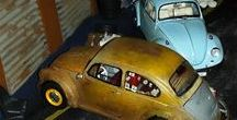 Old rust volgswagen 1\24 diorama / WOSVVOGENLERİM old rust volgswagen diorama