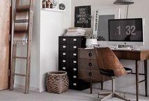 Bureau noir & blanc / Organiser le bureau en noir & blanc