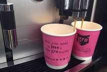 Gro London Coffee / Let our trained baristas serve you up a complementary latte, cappuccino or espresso made using our specialty Gro Blend Coffee! We promise it's addictive! xx