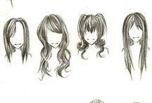 dibujo cabello