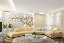 Интерьер квартиры 243 m2 / Дизайн проект интерьера квартиры в стиле жилого минимализма.  Архитектор Рихтер Ирина