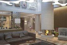 Интерьер загородного  дома  530 m2. / Интерьер загородного  дома  530 m2. Дизайн проект и реализация.  Архитектор Ирина Рихтер