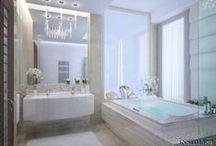 Дизайн интерьера ванной комнаты 14 m2 / Дизайн проект интерьера ванной комнаты в загородном доме. Архитектор Ирина Рихтер. INSIDE-STUDIO Prague