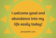 Uplifting thoughts / Daily positivity and affirmations to uplift, inspire and empower you to be your best you!