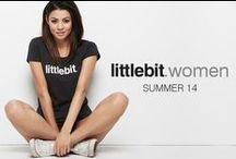Campaign: Women SS14 / Quality womens basic tees from littlebit.com. Wear them relaxed with a pair of jeans or denim shorts, or dress them up with a jacket. littlebit.com