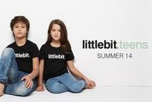 Campaign: Teens SS14 / Quality tees and caps for girls and boys (8 to 14). Get something a littlebit different and a littlebit cool from littlebit.com.