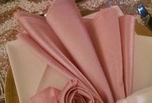 """""""Just Place Settings"""" / A collection of close-ups of place settings by Gala Cloths affordable & fabulous linen rentals!"""