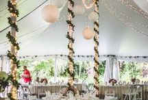 Silk Dupioni and lace elegance for a wedding in New Hampshire / Jillian's elegant New Hampshire wedding. Her Gala Cloths rental linen selections: Silk Dupioni Beige with an Overlay in Eden Lace. Photography by Sarah Mentus.