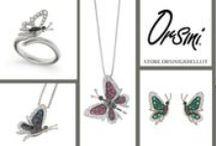 Butterfly / Una collezione dedicata alla bellezza e composta da anelli, ciondoli e orecchini impreziositi da diamanti bianchi e neri, smeraldi, rubini, zaffiri.