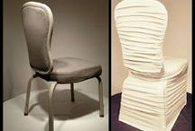 Ruched Chair Covers / Our Ruched Chair Covers Fit Everything! Economical. Easy-on. In White & Ivory.