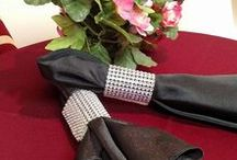 """Napkin Ring Bling & Place Setting Accessories / New Rhinestone """"Bling Rings"""" for Napkins"""