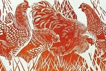 Bird printmaking