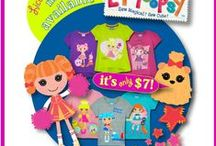 Lalaloopsy / Jack & Jill Kids offers licensed graphic T-shirts! All for $7.