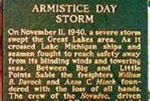"""Inspiration for  """"Georgie and the Armistice Day Blizzard"""" / Georgie and her brother Luke get stranded in downtown Minneapolis when the """"Storm of the Century"""" bears down on the area. They are caught without warm clothing or a way to get back home. This is a chapter book work-in-progress."""