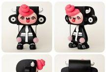 Custom Designer Toys / Custom Vinyl Toys by Artist and Designer Emelie Jensen.