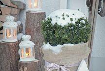 Winter im Garten / Im Winter gibt es wirklich nichts mehr im Garten zu tun. Da bleibt uns nur noch alles richtig schön zu dekorieren und auf den ersten Schnee zu warten.