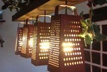 {DIY}-Reutiliza tu menaje y utensilios de cocina / Ideas para reciclar y decorar tu casa con utensilios de cocina:, ralladores, moldes, cubiertos, coladores,rodillos...
