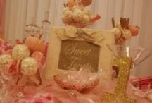 food and candy tables