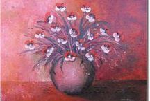 Floral Art / Original Irish Artist painting abstract, landscape and still life in oils and acrylics