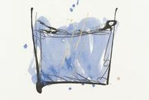 HIROKO OSUGI / Japanese artist - uses painting with CHINESE blue ink to explore the potential of calligraphy as an art