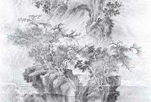 YOO SEUNG HO / Korean artist - appeals to 'shanshui' (mountain and water) classical artworks in his proposal to reenact traditional KOREAN landscape painting in the present