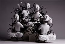 ZI WON WANG / Korean artist - constructs intricate mechanical figures of Buddha and bodhisattva that appear to be lost in meditation or enlightenment, as in ORIENTAL culture