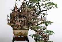 TAKANORI AIBA / Japanese artist - takes the traditional JAPANESE art to a new level with his incredibly intricate series of bonsai castles